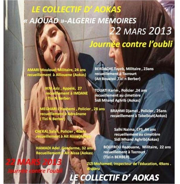 RDV le 22 MARS 2013