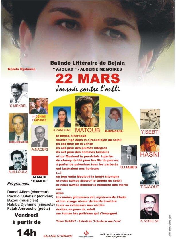 22 Mars 2013, Journée contre l'oubli