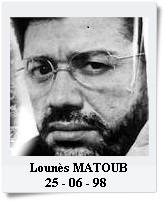 MATOUB Lounès 25 juin 1998