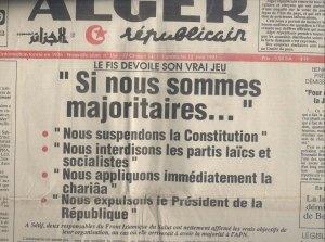 Déclaration du FIS  12 mai 91