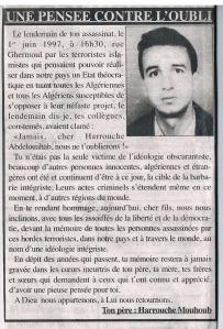 Harrouche Abdelouahab 1 juin 97